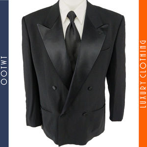 GIORGIO ARMANI 40S Double Breasted Tuxedo Jacket